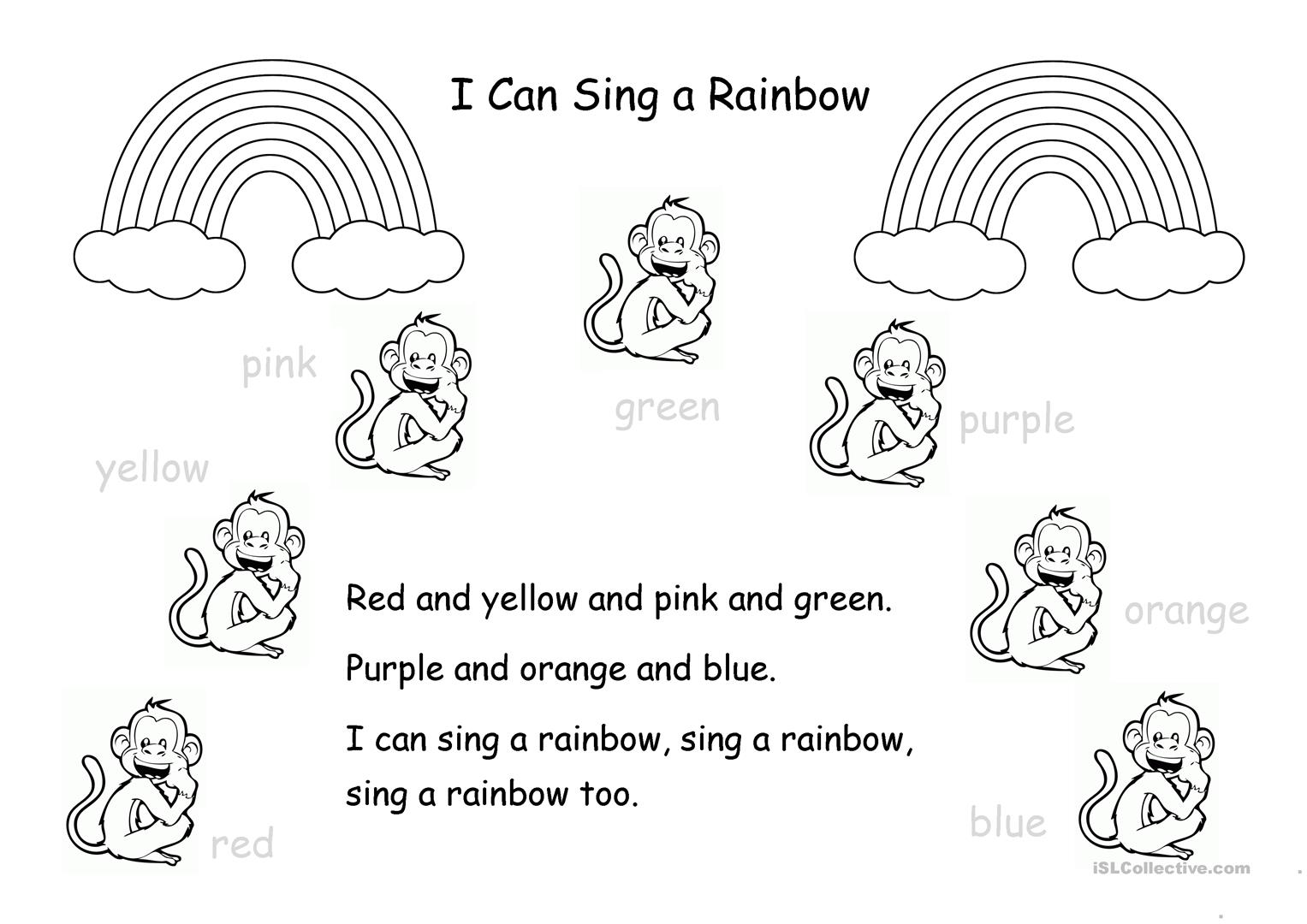 Rainbow Colors Worksheet