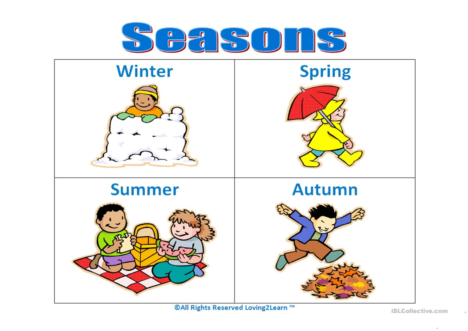 Worksheet Seasons Weather