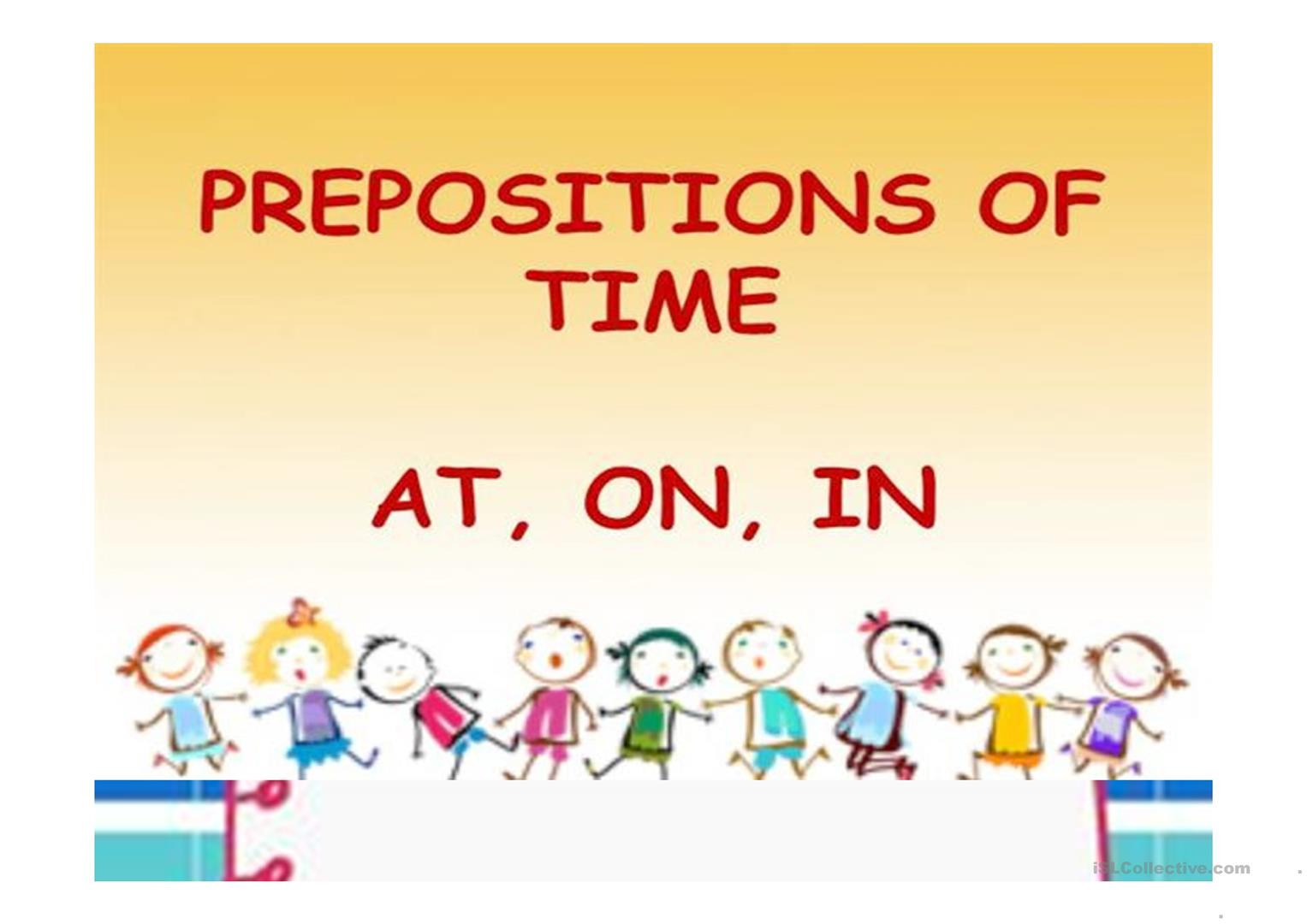 Time Prepositions For Beginners