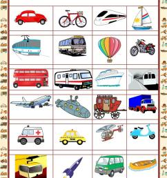 Picture dictionary - MEANS OF TRANSPORT - English ESL Worksheets for  distance learning and physical classrooms [ 1079 x 763 Pixel ]
