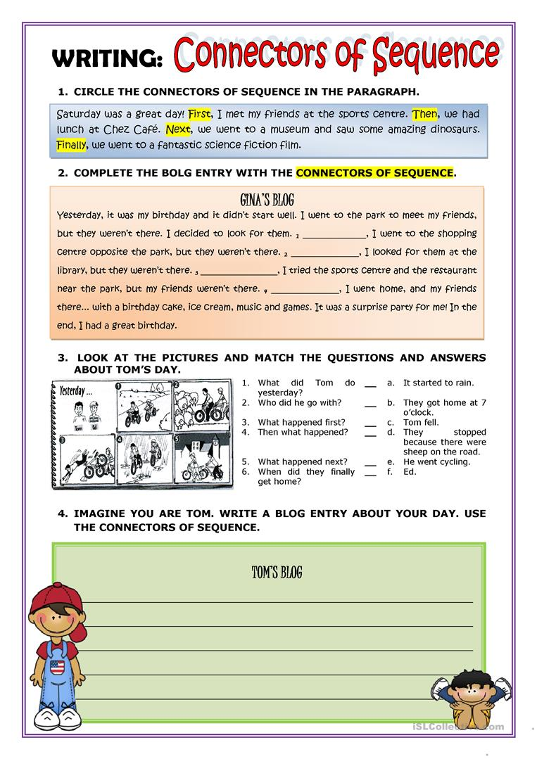 hight resolution of English ESL sequence worksheets - Most downloaded (35 Results)