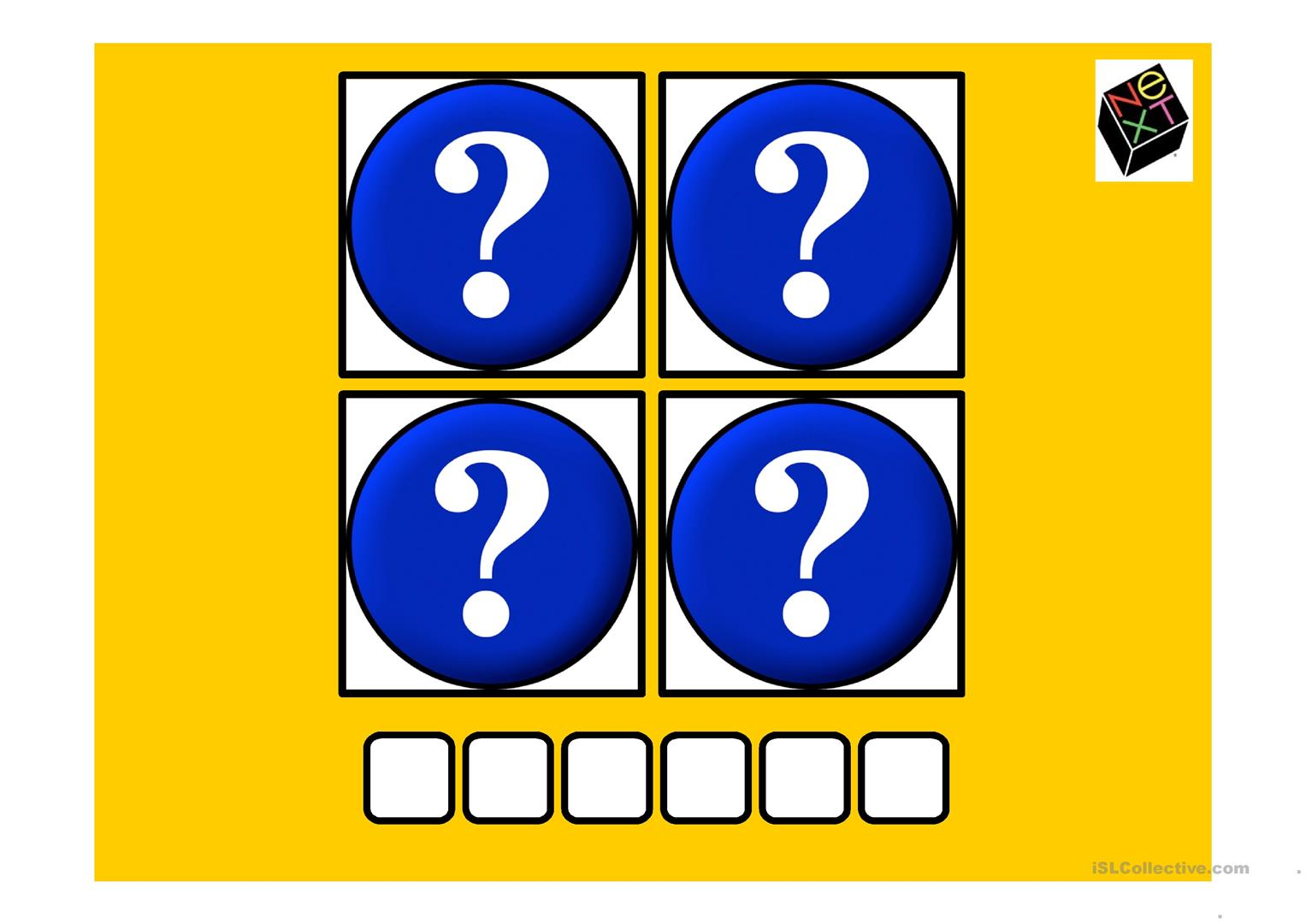 4 Pictures 1 Word Game 6 Worksheet