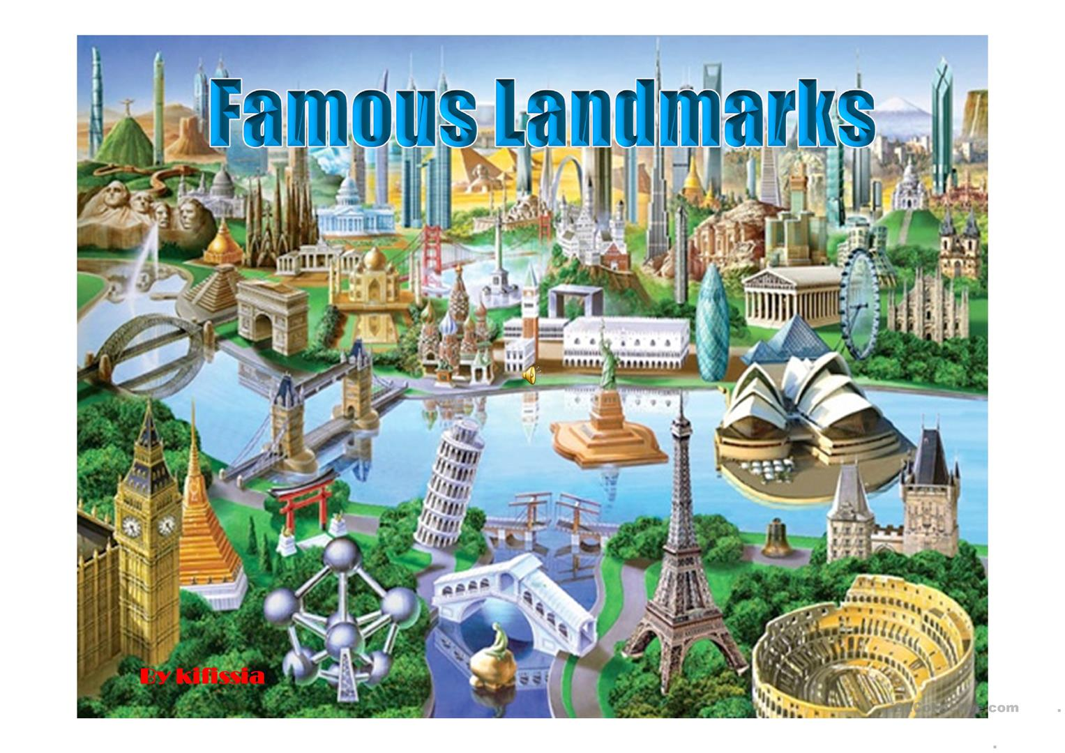 21 Famous Landmarks Ppt Worksheet