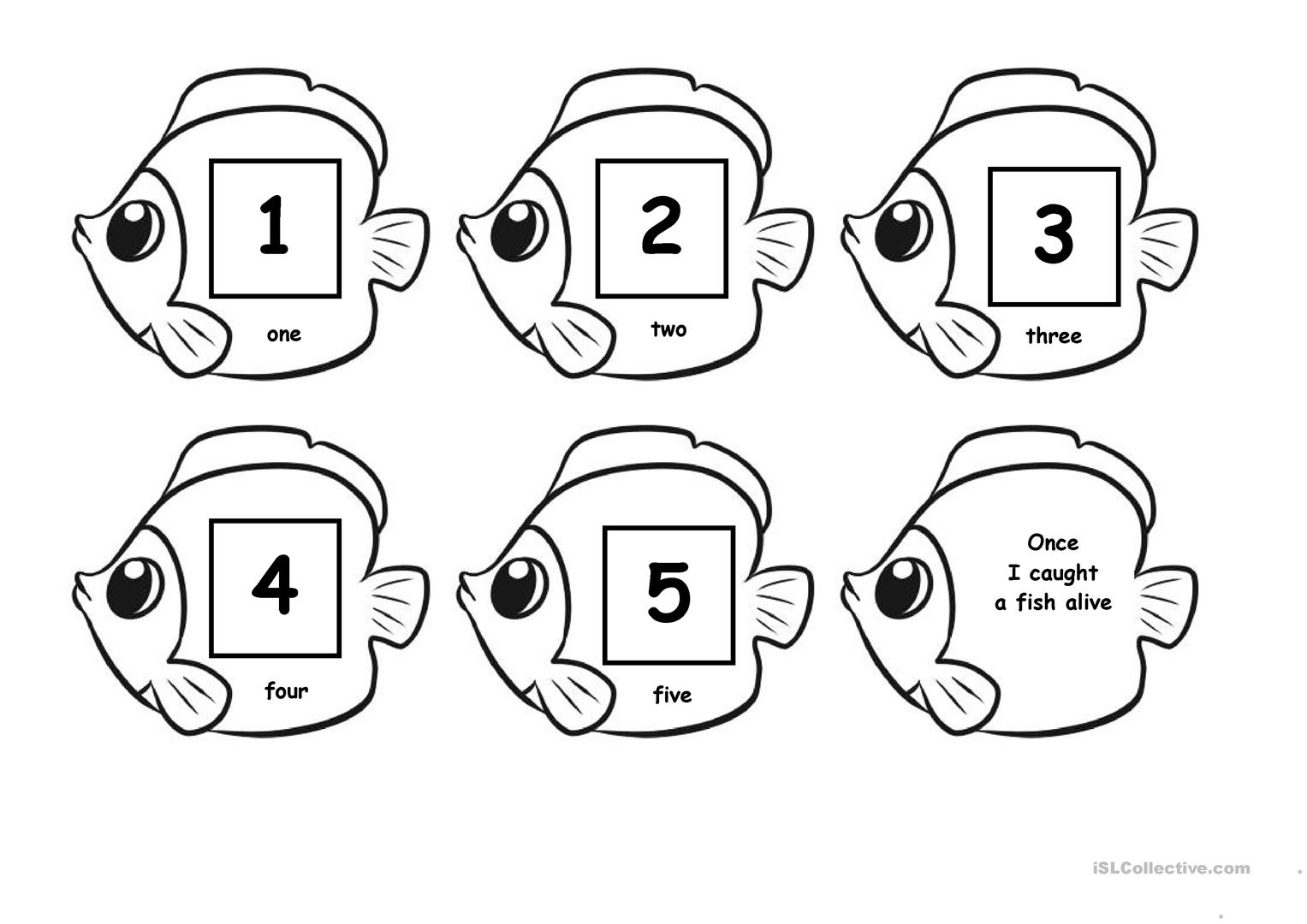 1, 2, 3, 4, 5... Once I caught a fish a live worksheet