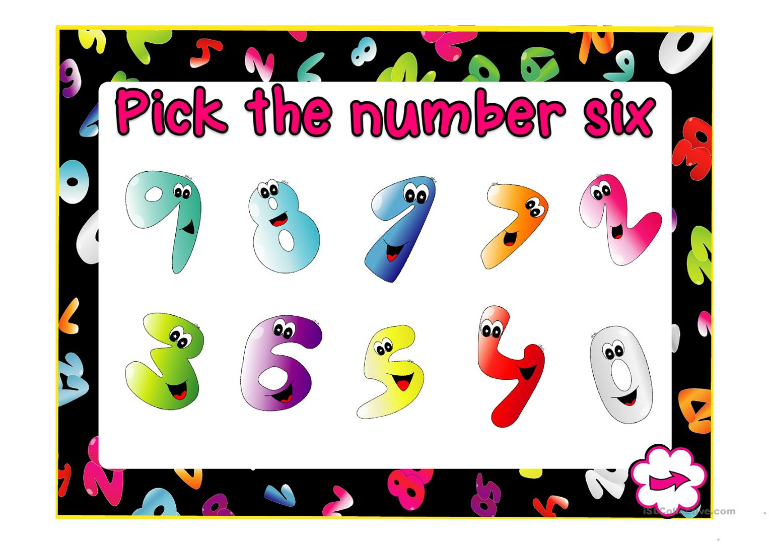 Pick The Number Worksheet