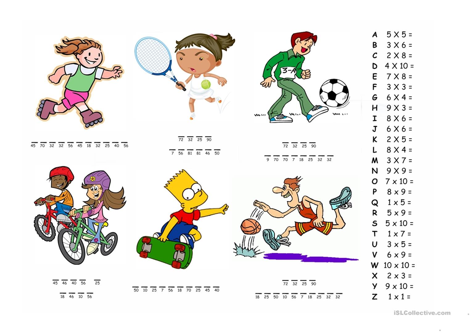 Sports Abilities Worksheet