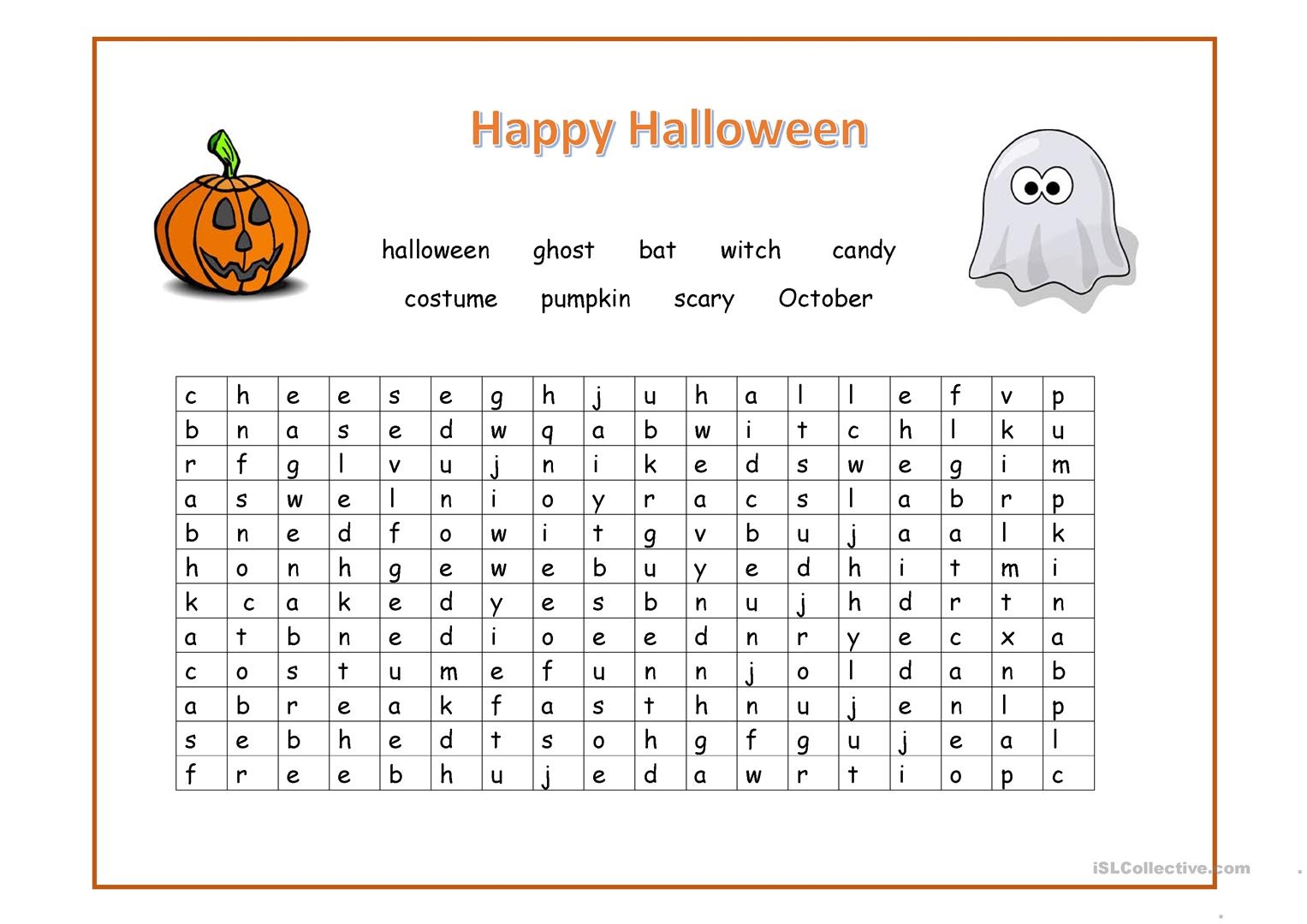 Happy Halloween Wordsearch