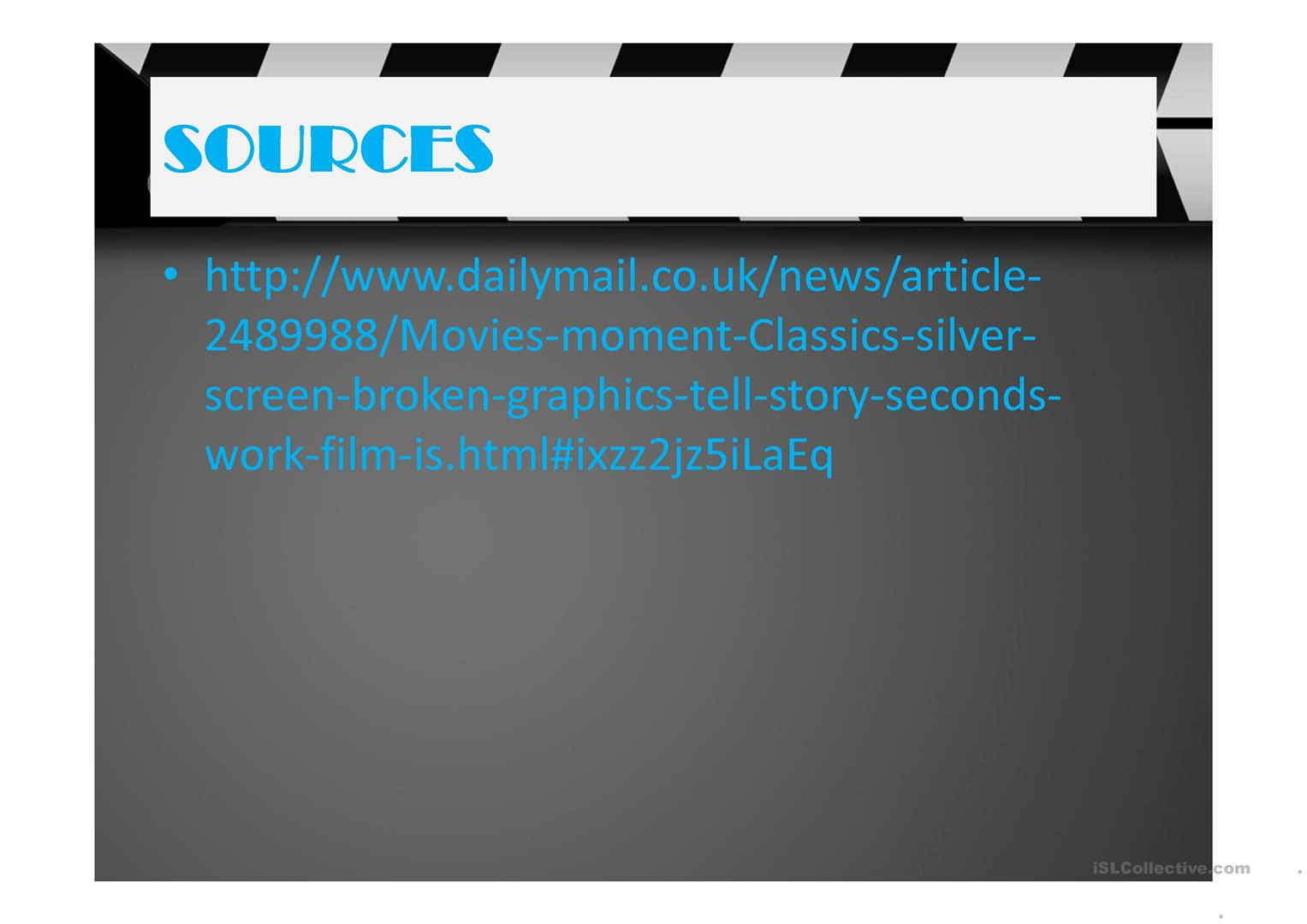 Movies In A Moment Worksheet