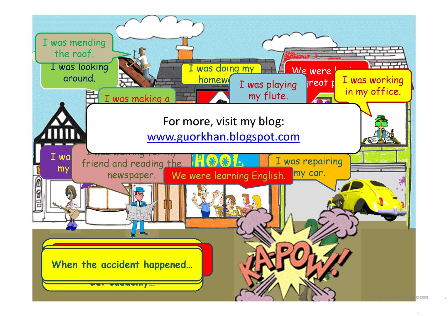 Past Continuous Tense Movie Like Animated Worksheet
