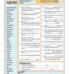 PERSONALITY ADJECTIVES - English ESL Worksheets for distance learning and  physical classrooms [ 1079 x 763 Pixel ]