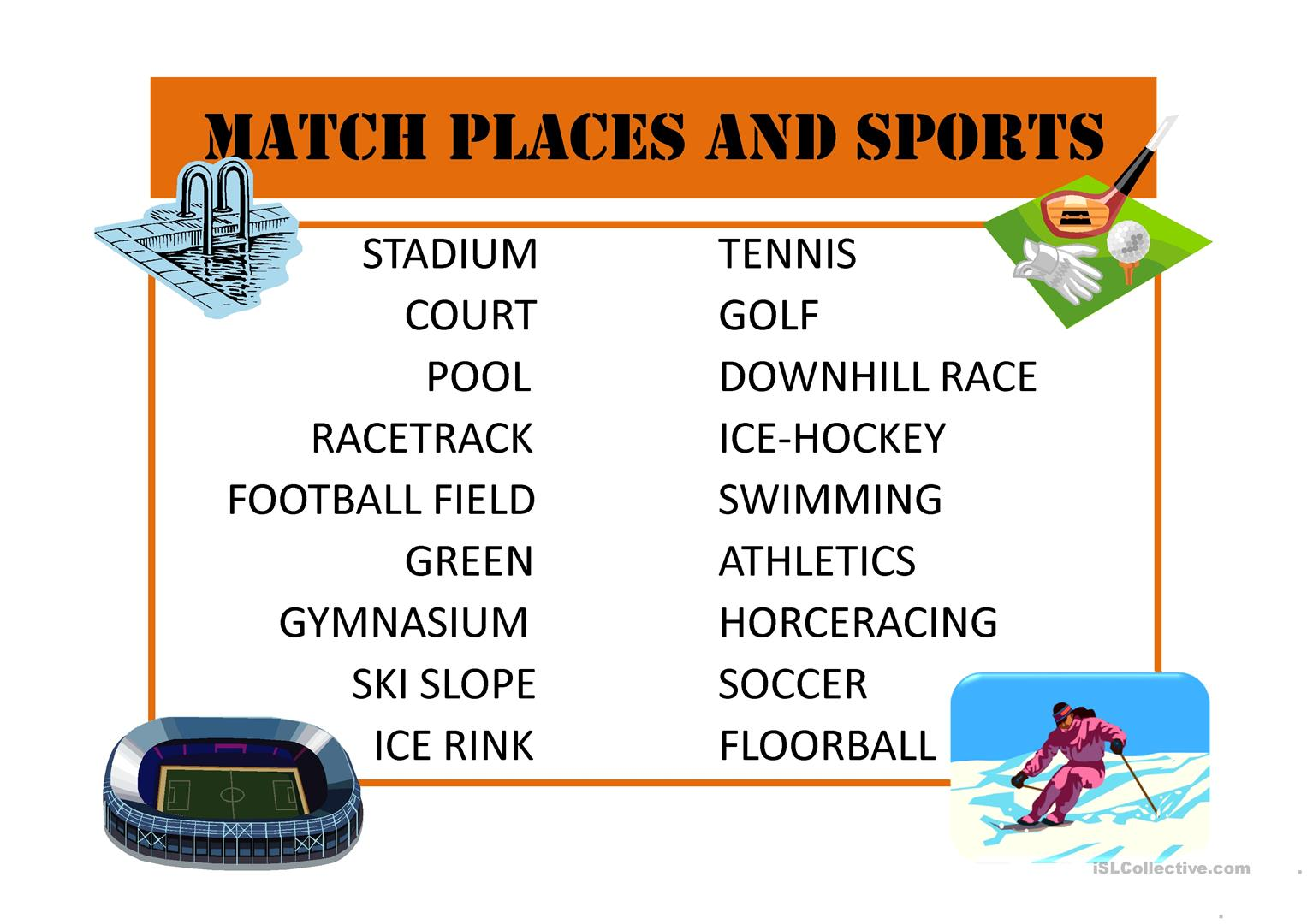 Sport Worksheet
