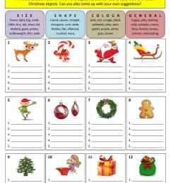 Describing Christmas (adjectives) - English ESL Worksheets for distance  learning and physical classrooms [ 1079 x 763 Pixel ]