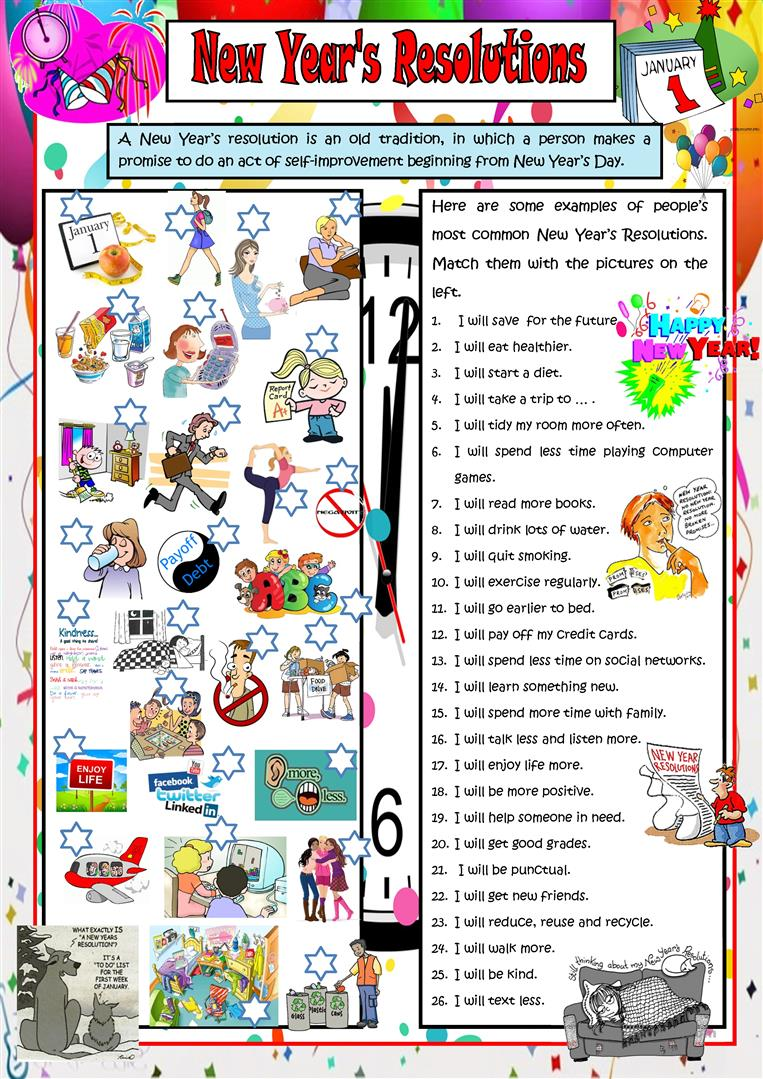 hight resolution of English ESL new year worksheets - Most downloaded (202 Results)