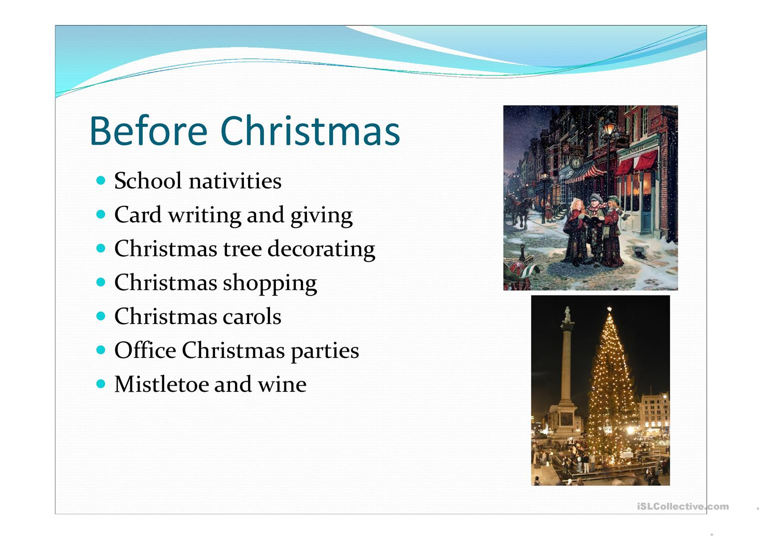 Uk Christmas Traditions Worksheet