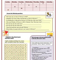 FEBRUARY 2021 Calendar facts - English ESL Worksheets for distance learning  and physical classrooms [ 1079 x 763 Pixel ]