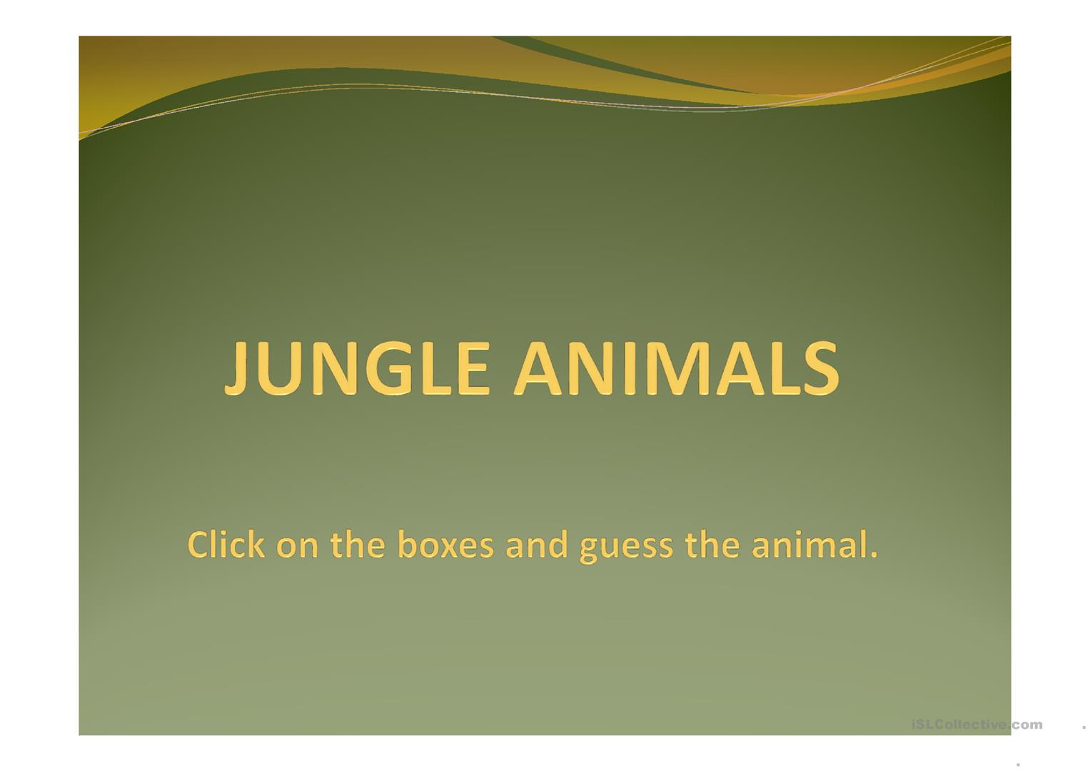 Jungle Animals Guessing Game