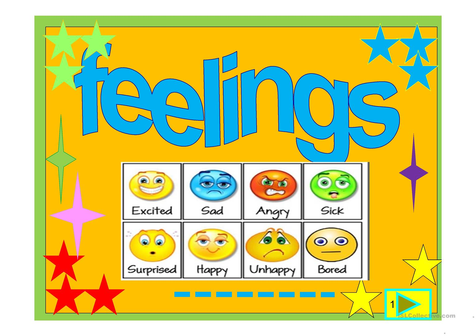 Feelings Powerpoint Worksheet