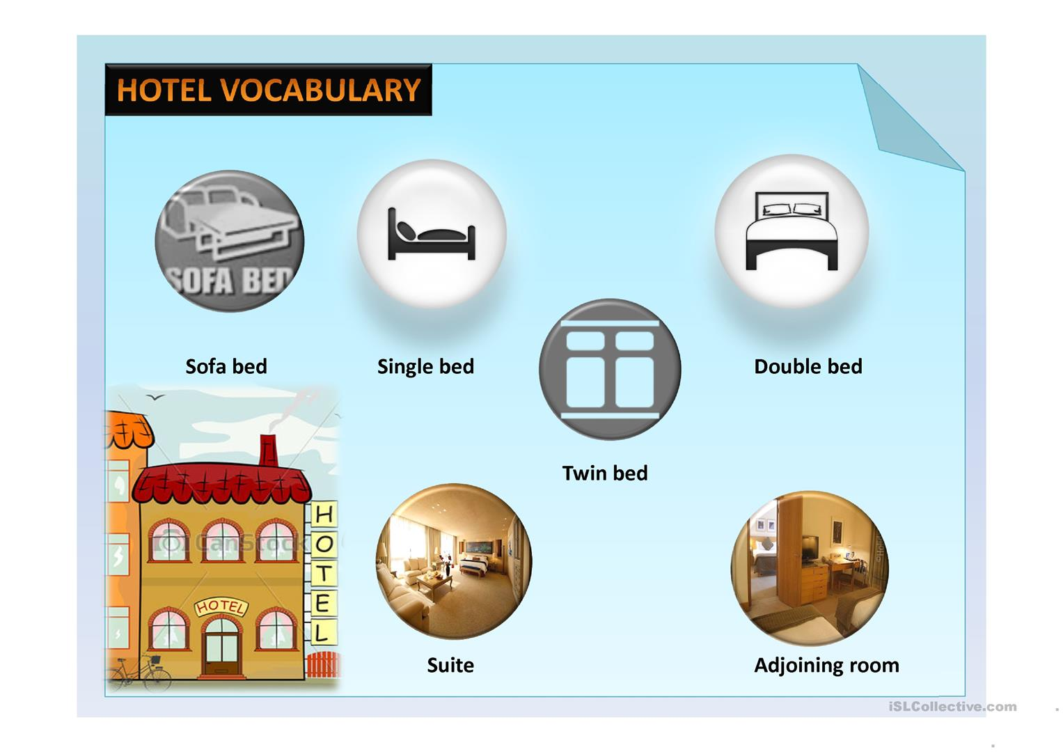 Hotel Vocabulary Worksheet