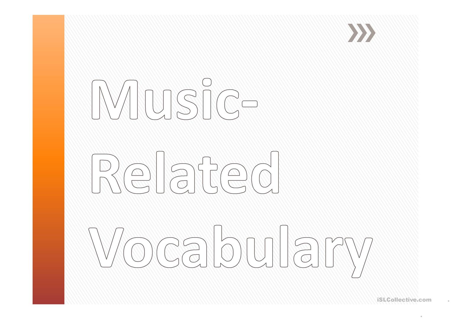 Music Genres And Vocabulary Worksheet