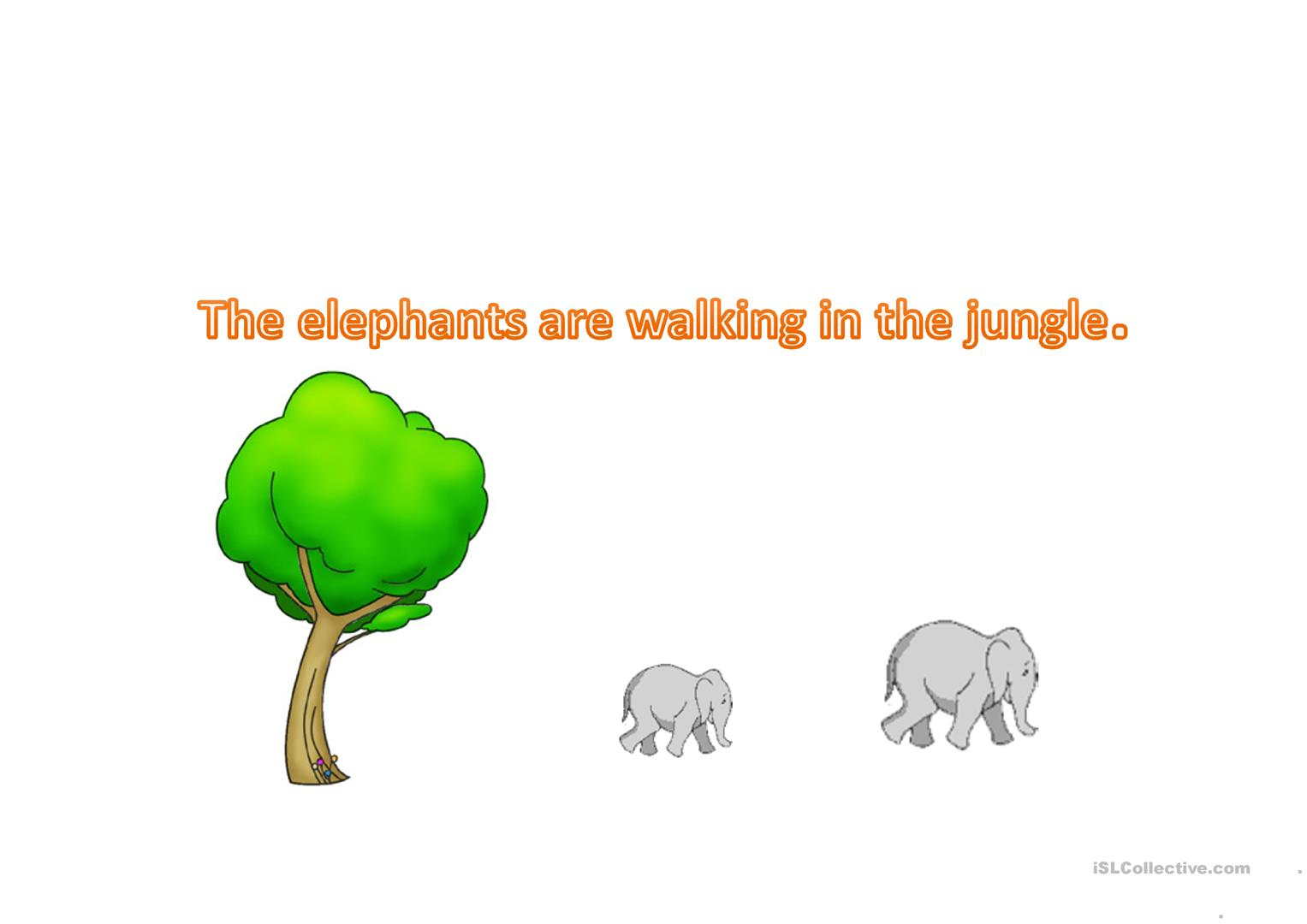 Present Continuous The Jungle Book Worksheet