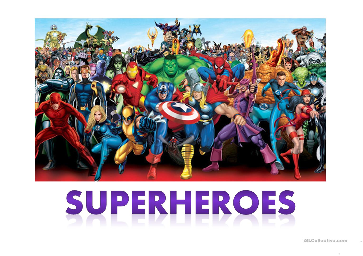 Describe A Superhero Worksheet