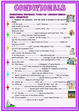 41 FREE ESL Conditionals  Mixed conditionals worksheets