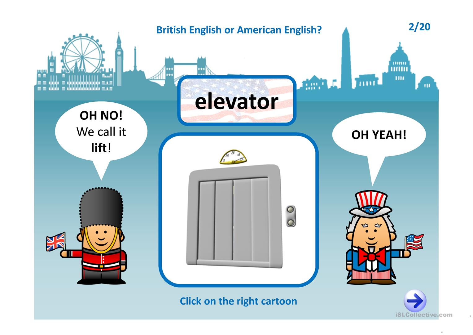 American British English Quiz