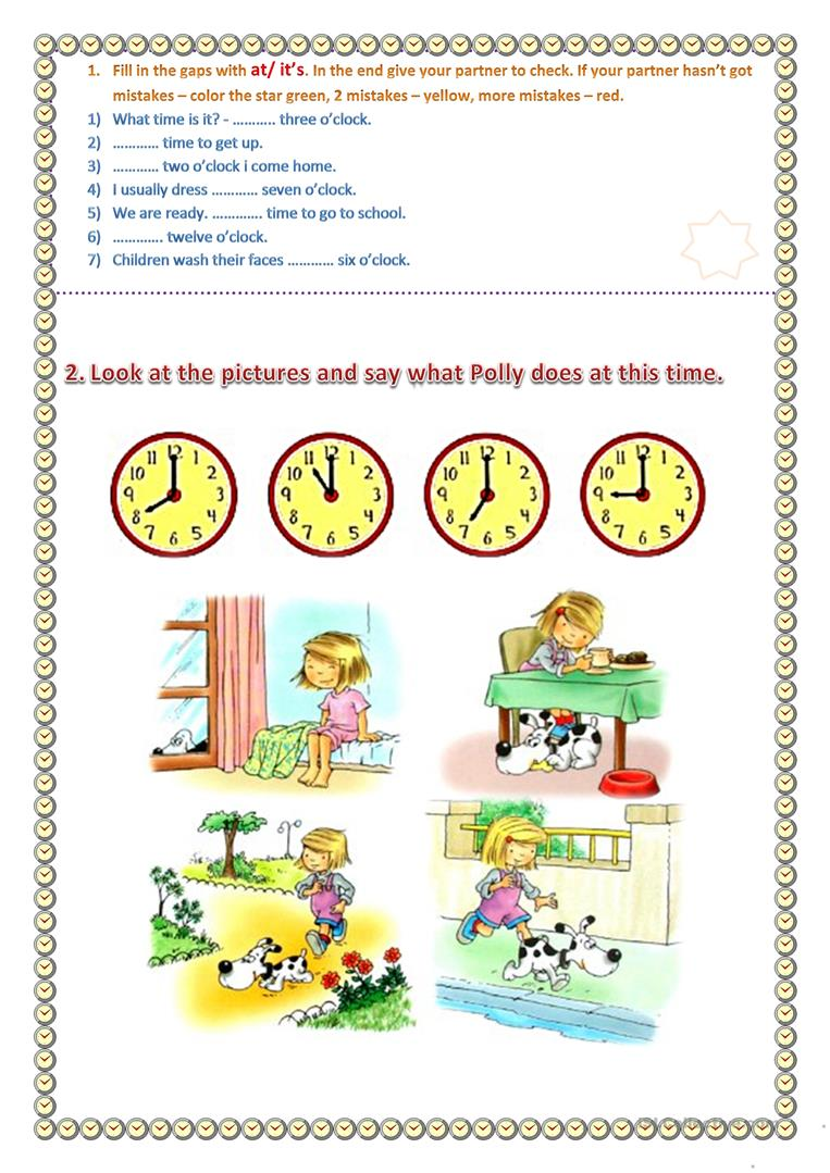 hight resolution of It's time to... - English ESL Worksheets for distance learning and physical  classrooms