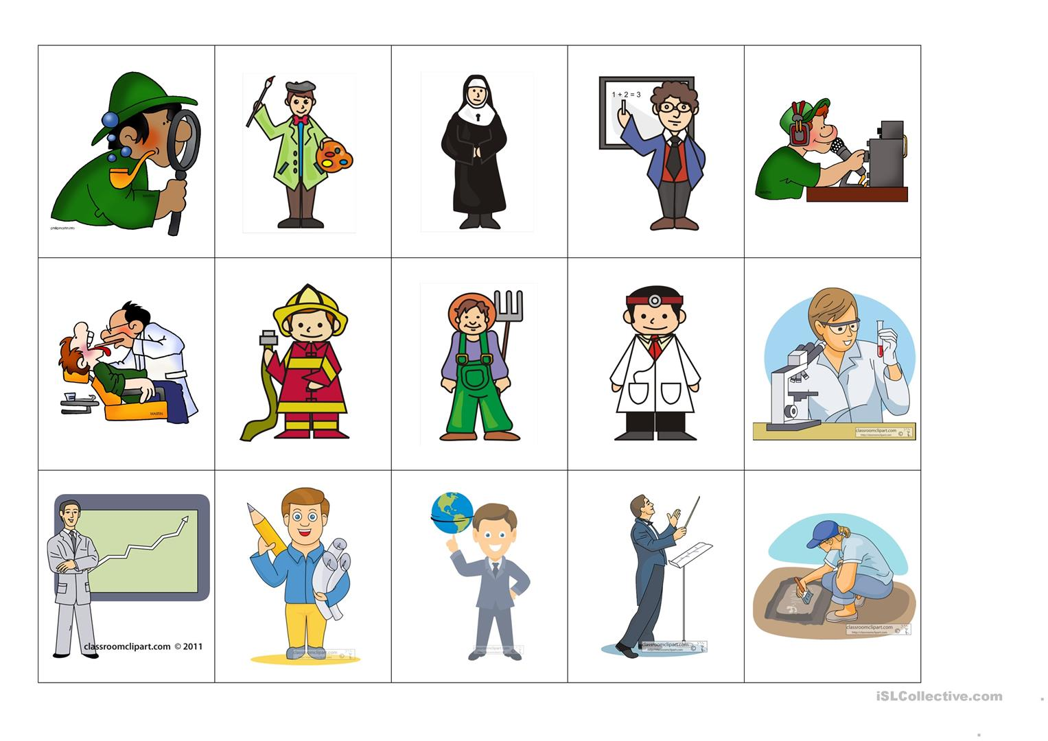 Occupations Worksheet Printable