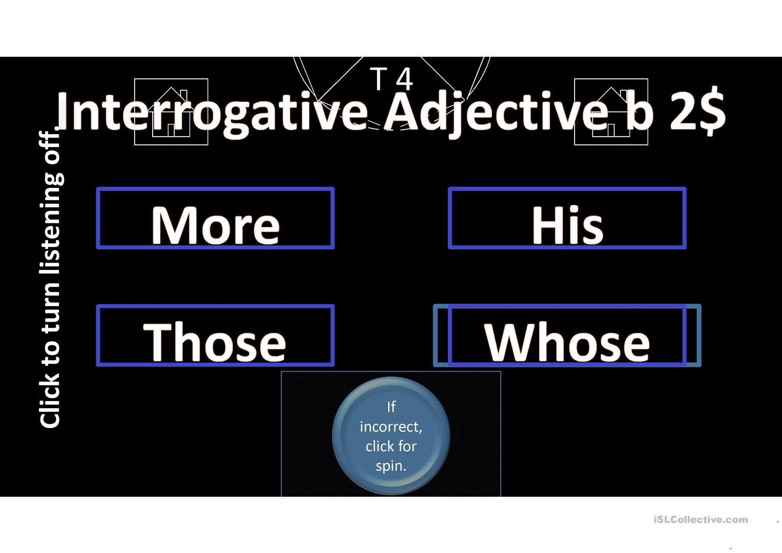 Parts Of Speech Jeopardy Game Worksheet