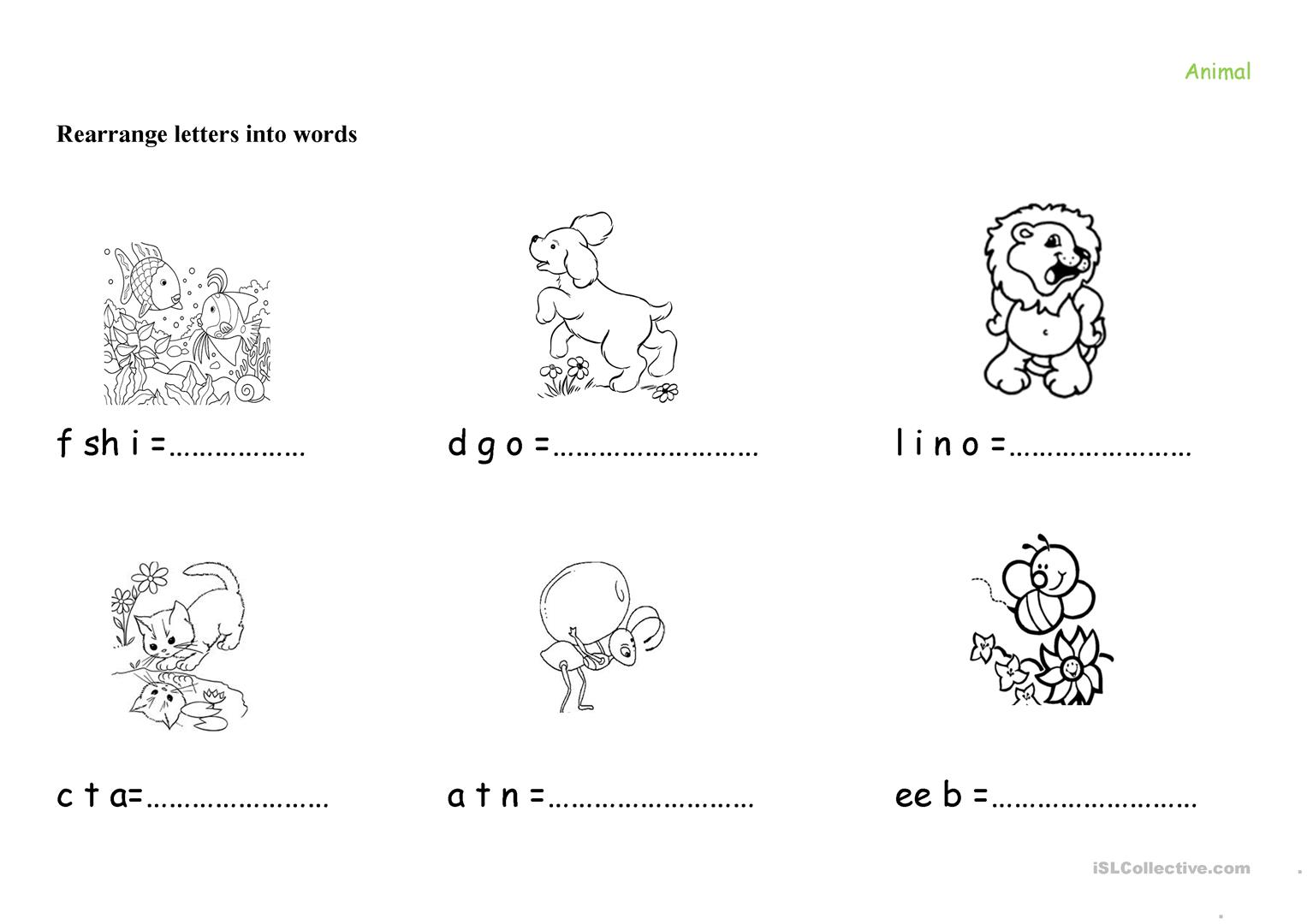 Animal Vocabulary For Young Learners