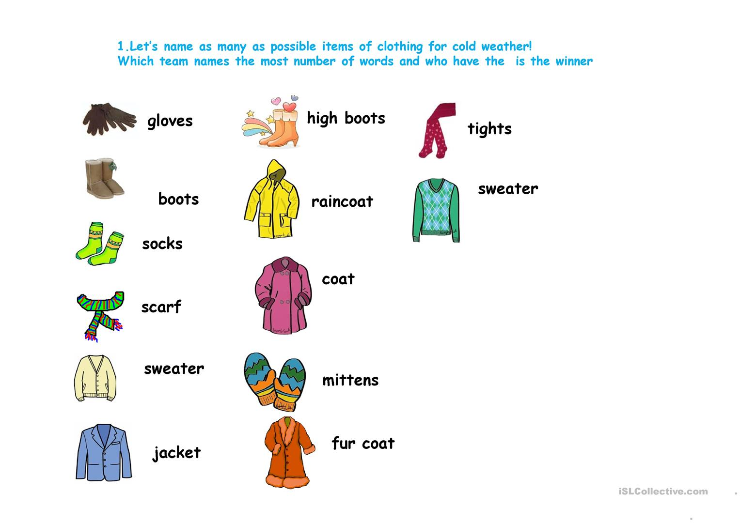 Clothes New Vocabulary Introduction And Implementation