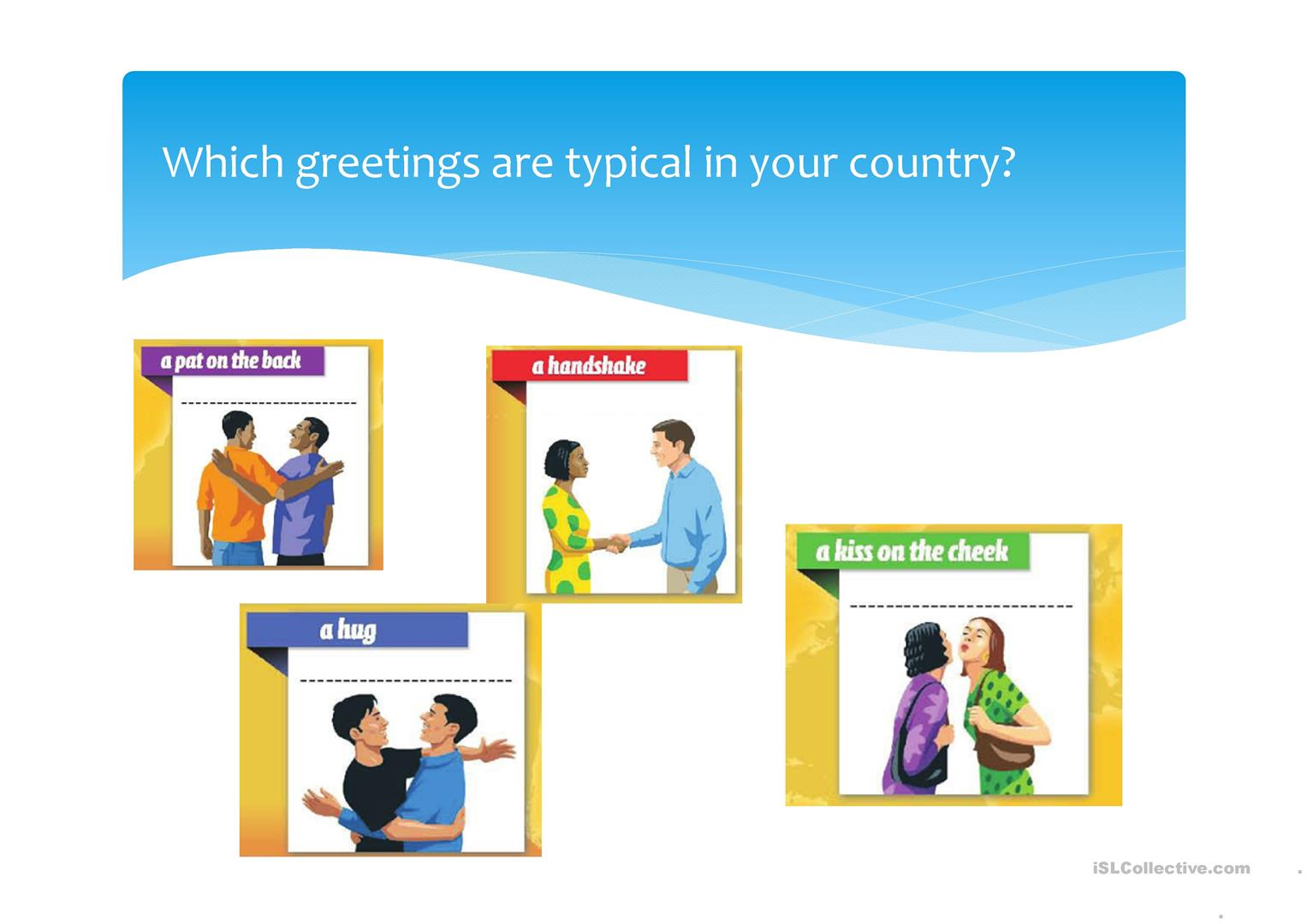 Greetings From Around The World Worksheet