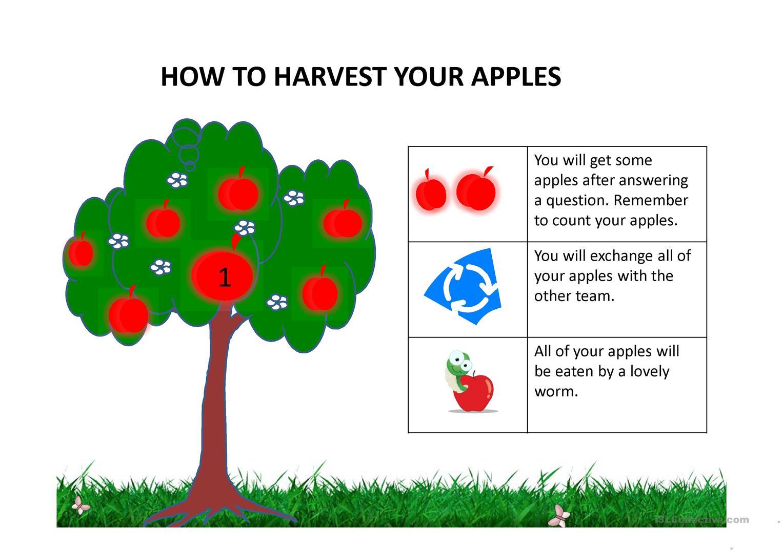 Harvest Apples Worksheet