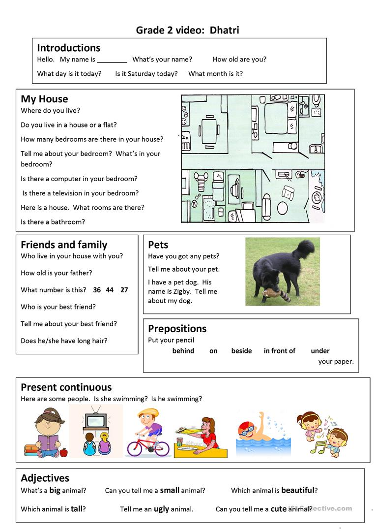 hight resolution of English ESL grade 2 worksheets - Most downloaded (44 Results)