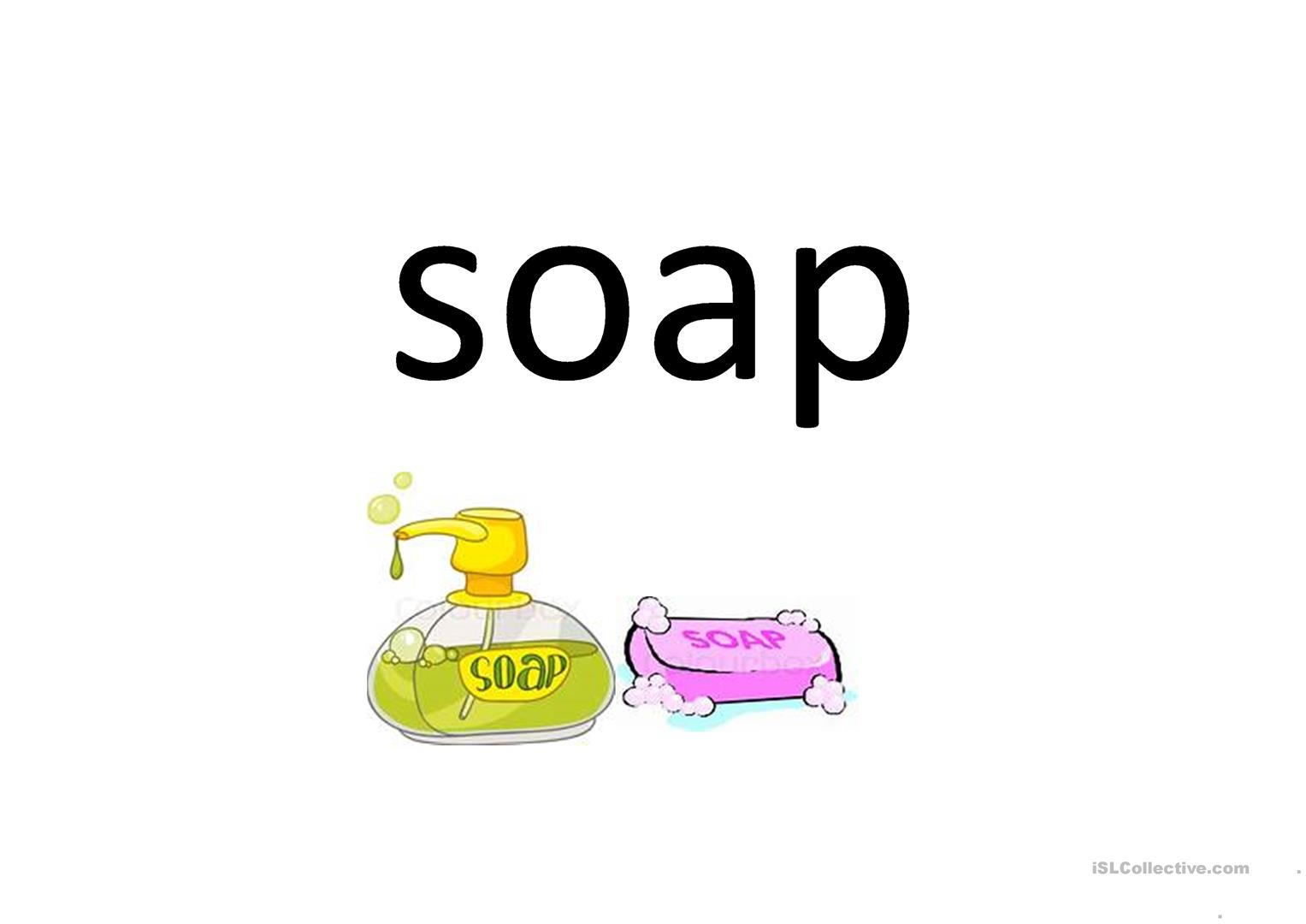Washing Your Hand Flashcards Worksheet