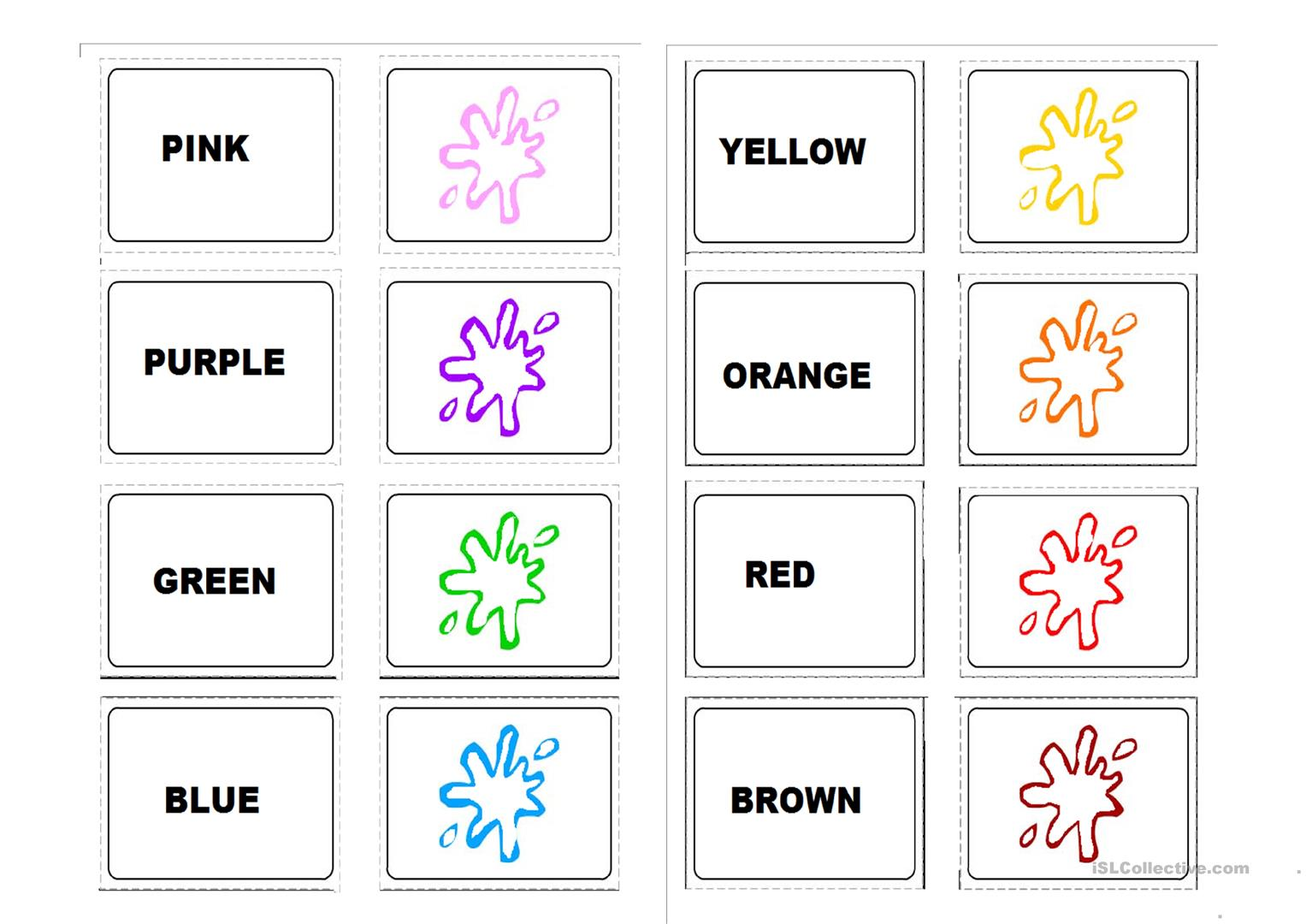 Memory Game Colours