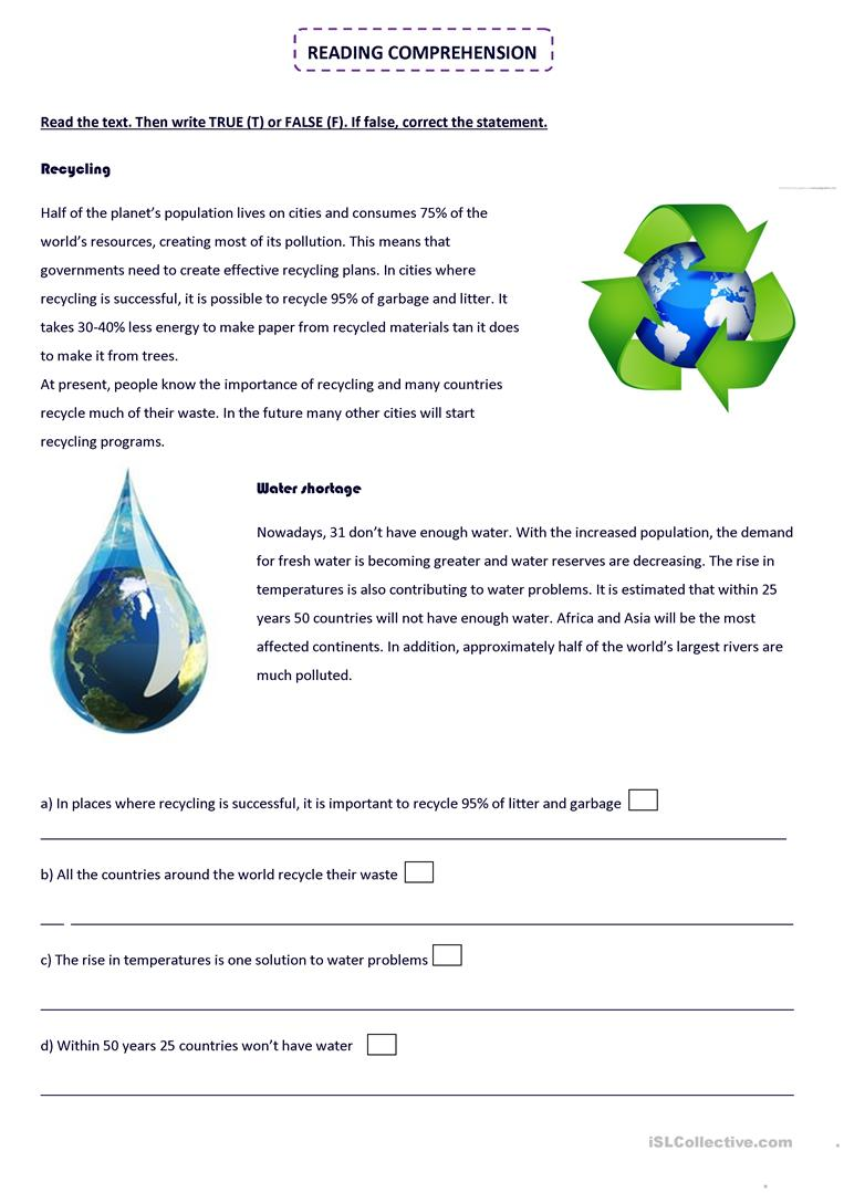 medium resolution of English ESL recycling worksheets - Most downloaded (36 Results)