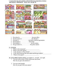 The city- prepositions - English ESL Worksheets for distance learning and  physical classrooms [ 1079 x 763 Pixel ]