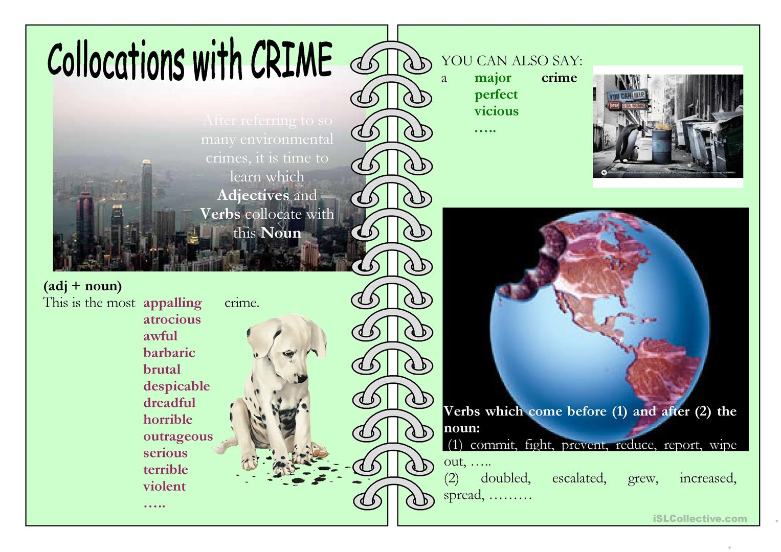 Collocations With Crime Worksheet