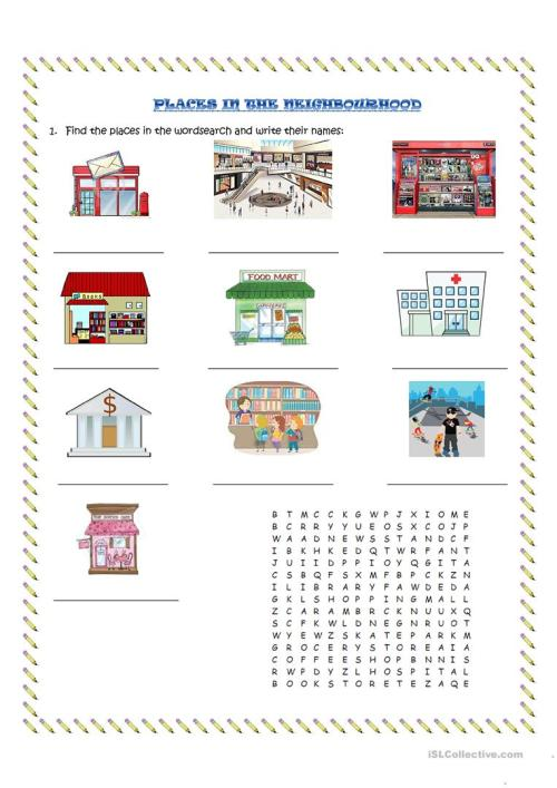 small resolution of English ESL neighbourhood worksheets - Most downloaded (10 Results)