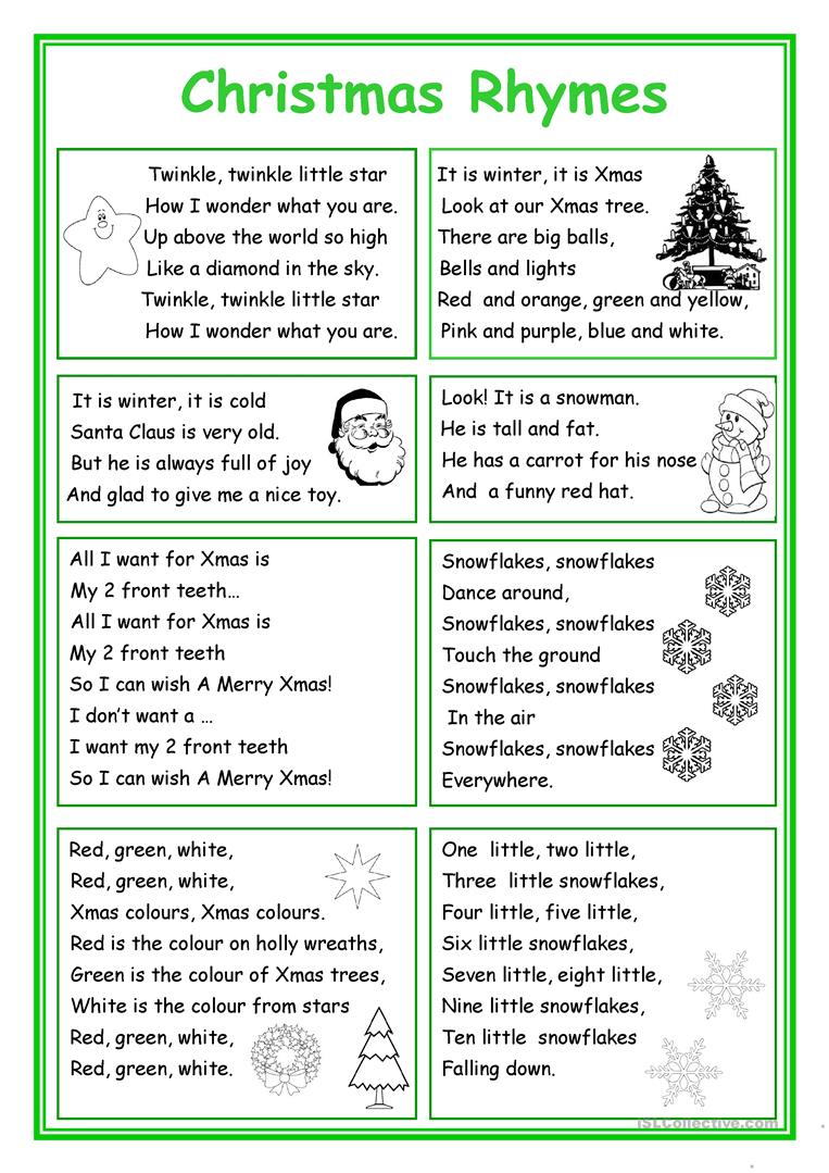 hight resolution of English ESL rhymes worksheets - Most downloaded (51 Results)