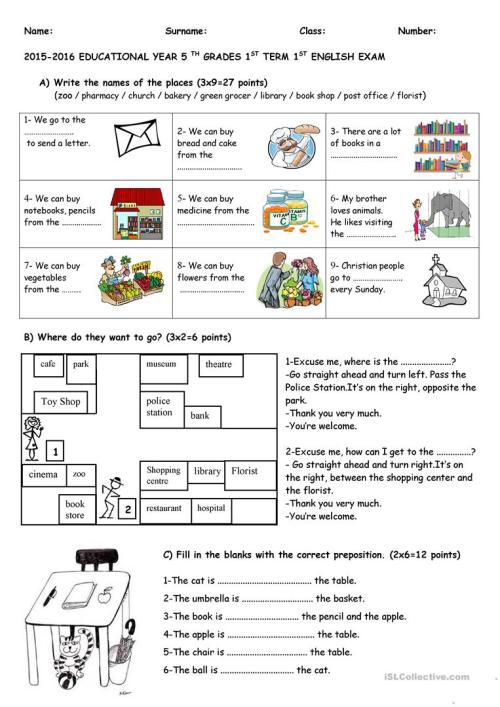 small resolution of exam for 5th grades - English ESL Worksheets for distance learning and  physical classrooms