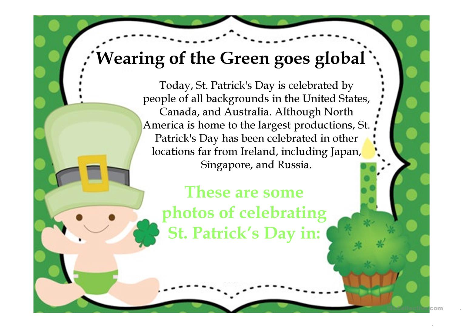 St Patrick S Day Cultural And Stereotypes Worksheet