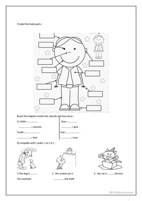 small resolution of test for 6th grade - English ESL Worksheets for distance learning and  physical classrooms