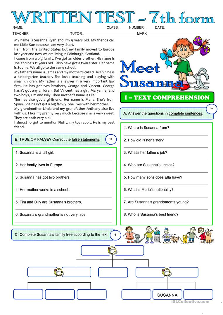 hight resolution of English ESL grade 3 worksheets - Most downloaded (39 Results)