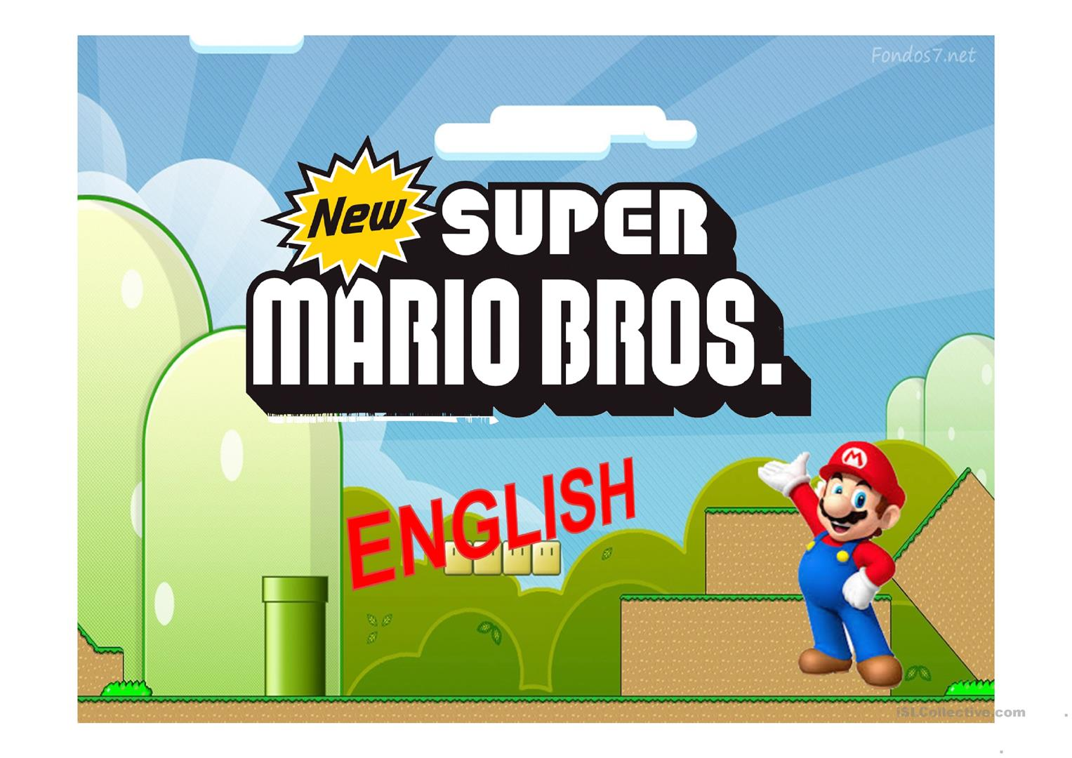 Mario Bros Jeopardy Worksheet