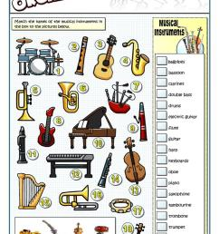 English ESL musical instruments worksheets - Most downloaded (45 Results) [ 1079 x 763 Pixel ]