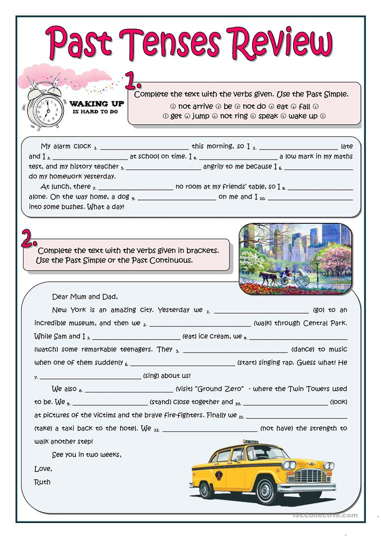 medium resolution of PAST TENSES REVIEW - English ESL Worksheets for distance learning and  physical classrooms