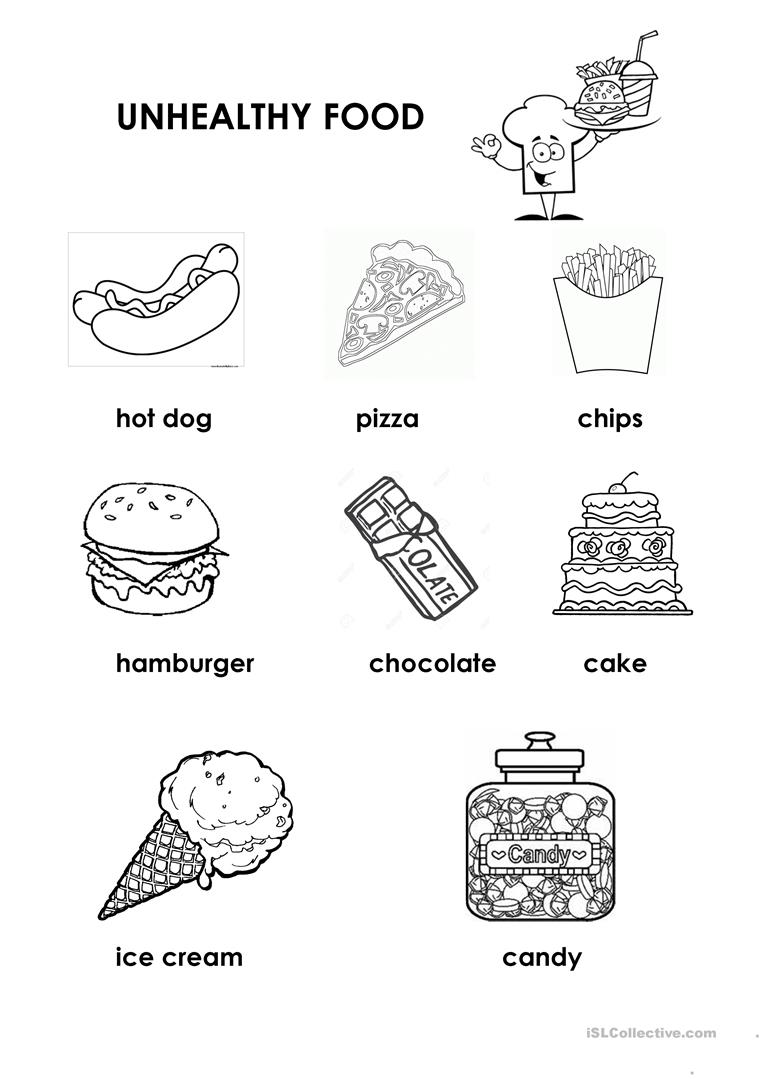 Sort Healthy And Unhealthy Foods Worksheets Nutrition Food